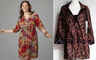 model baju batik atasan wanita gemuk pendek