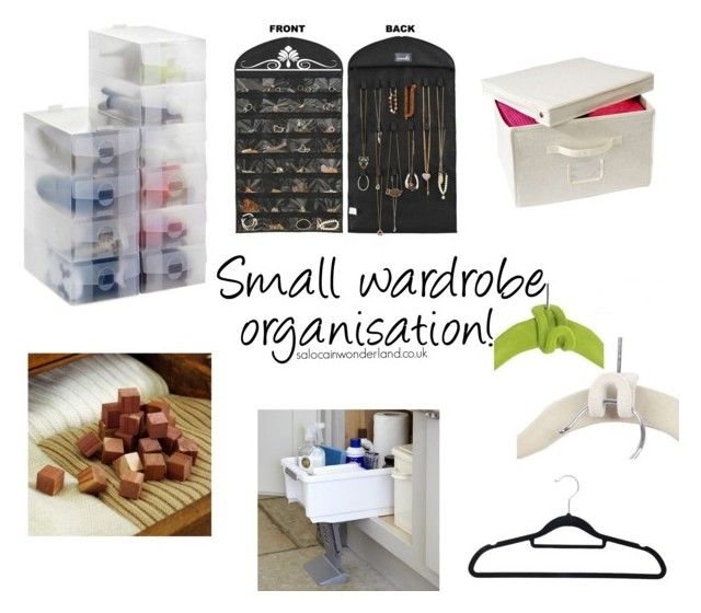 small wardrobe organisation