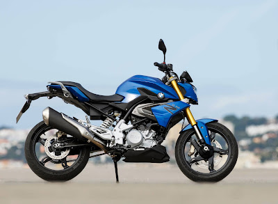 BMW G310R blue side angle HD Images 02