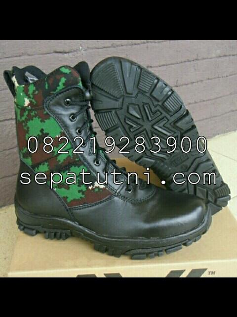 Sepatu PDL TNI Jatah Loreng NKRI merk AWL