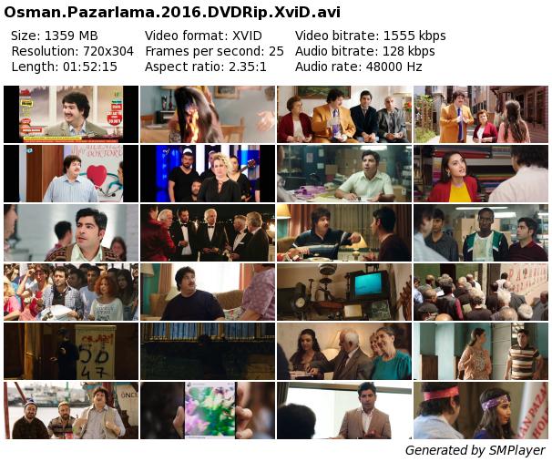 Osman Pazarlama 2016  DVDRiP Sansürsüz Orjinal DVD Xvid Full İndir