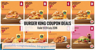 Burgerking coupons uk