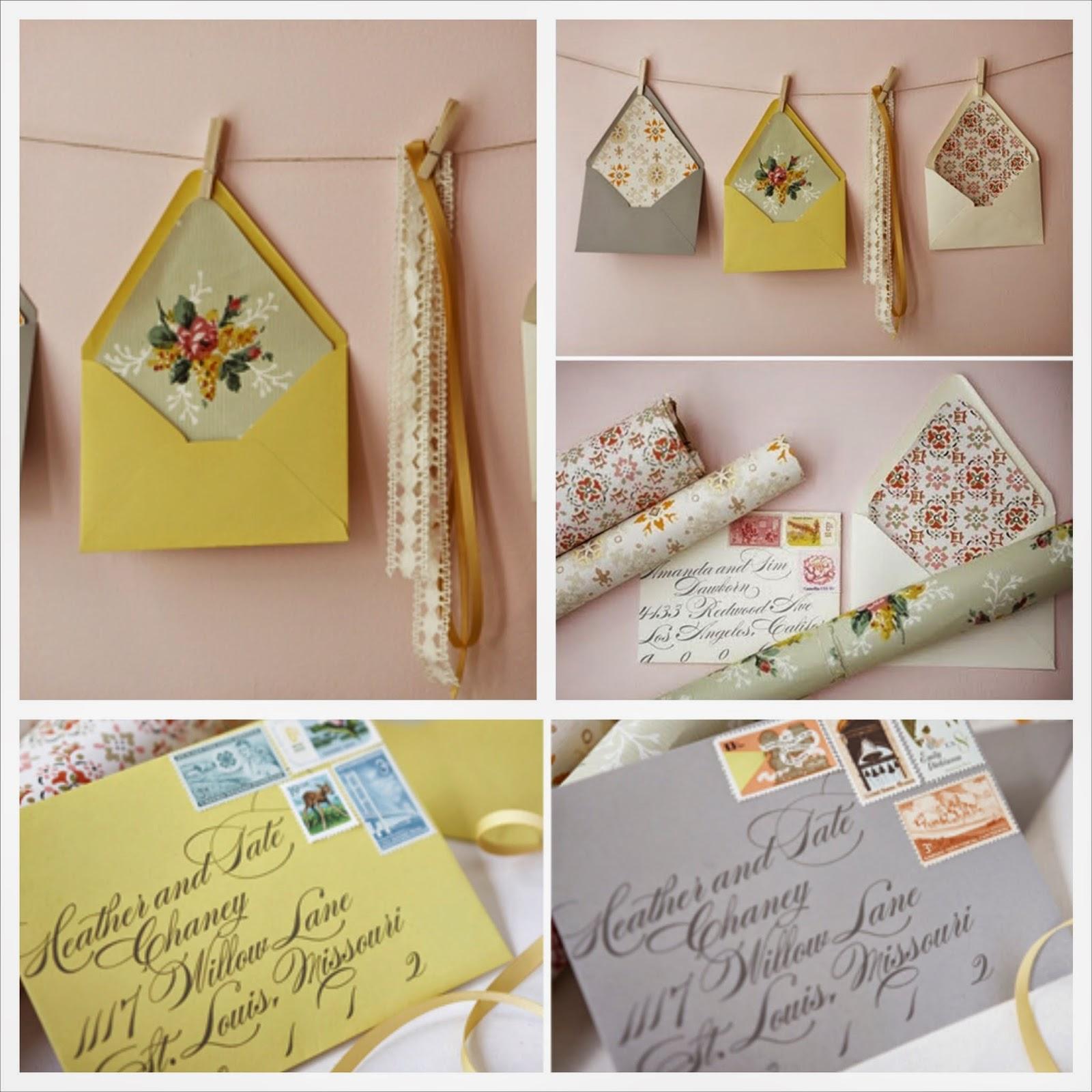 Handmade cute paper envelopes, hacer sobres de boda DIY