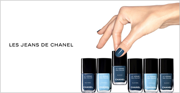 Top Knot And Fringe Chanel S Limited Edition Denim Nail Polish