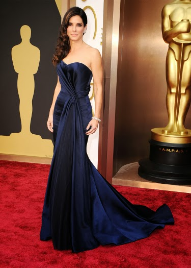 Sandra Bullock in Alexander McQueen at the Academy Awards 2014