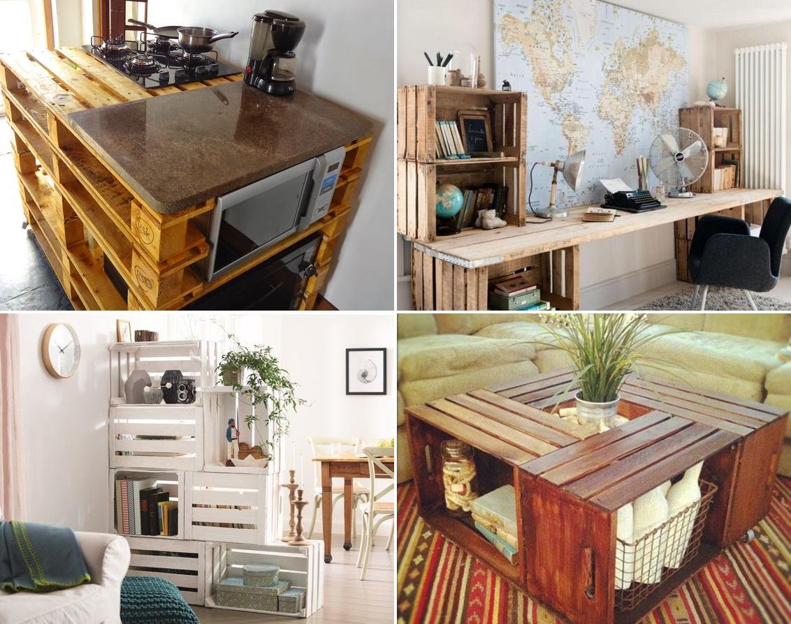 Decoração de interiores paletes e caixotes  Beauty plus size