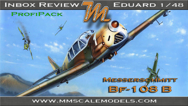 Messerschmitt Bf-108 Taifun, Eduard 1/48, kit 8054 - plastic scale model kit inbox review
