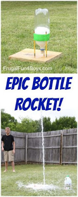 Spring science ideas.  How to create a bottle rocket.