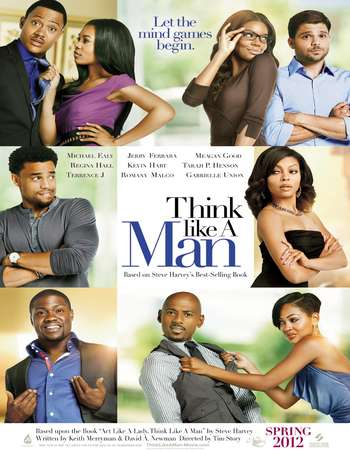 Poster Of Think Like a Man 2012 Dual Audio 720p BRRip [Hindi - English] ESubs Free Download Watch Online Worldfree4u