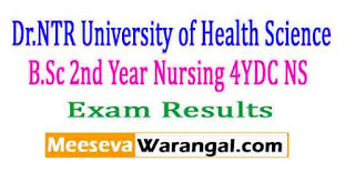 Dr.NTR University of Health Science B.Sc 2nd Year(Nursing) 4YDC (NS) Nov 2016 Exam Results