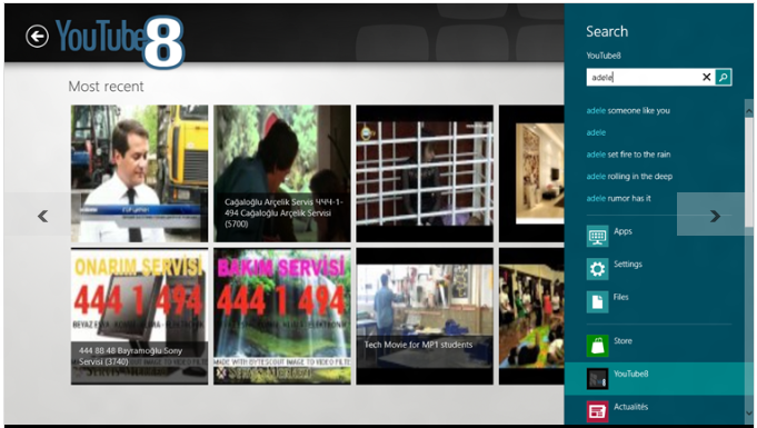 YouTube8 : Best Free Windows 8 Metro Apps To Watch YouTube Video