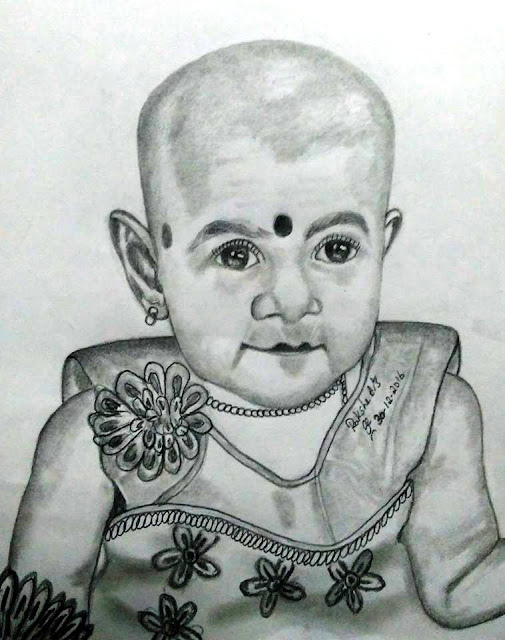 PENCIL DRAWING BABY - 30- 12 - 2016