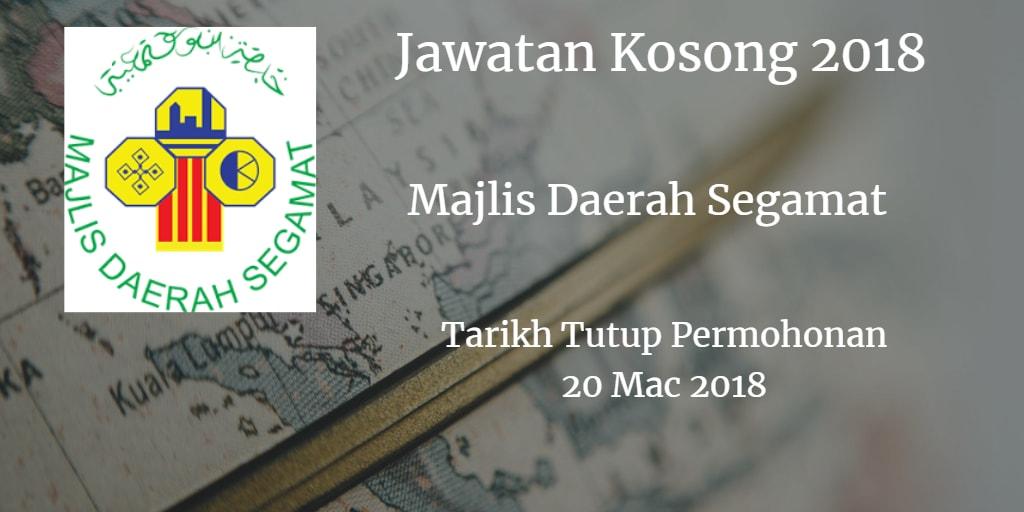 Jawatan Kosong Md Segamat 20 Mac 2018