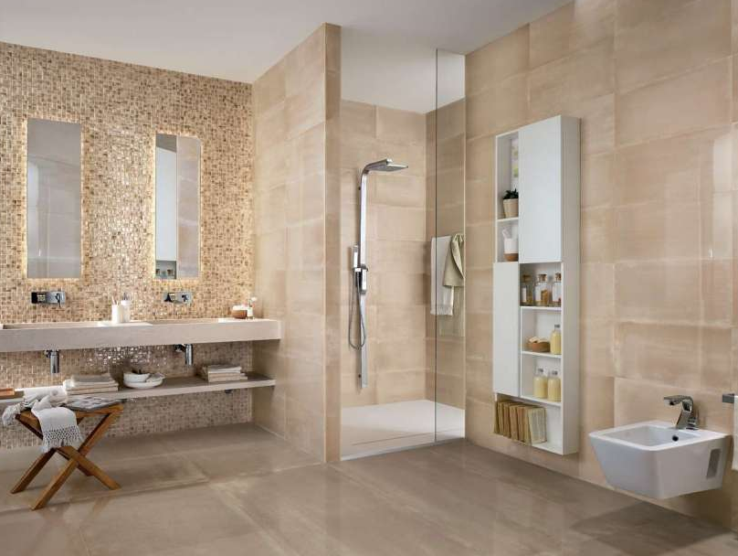 model keramik kamar mandi motif batu