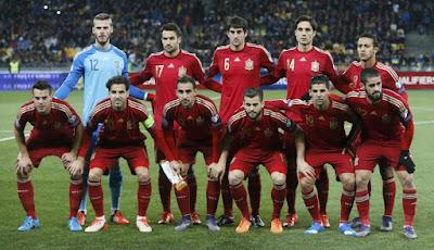 Daftar Skuad Pemain Timnas Spanyol 2016