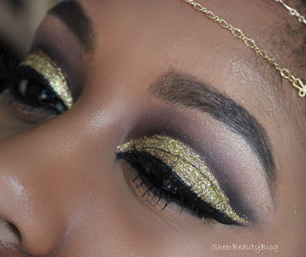 gold glitter makeup halloween kat von d mac cosmetics trax ambering rose