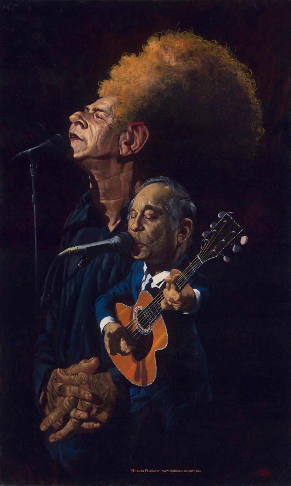 Simon y Garfunkle por Thomas Fluharty