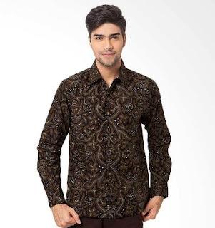 Model terbaru kemeja pria lengan panjang motif batik