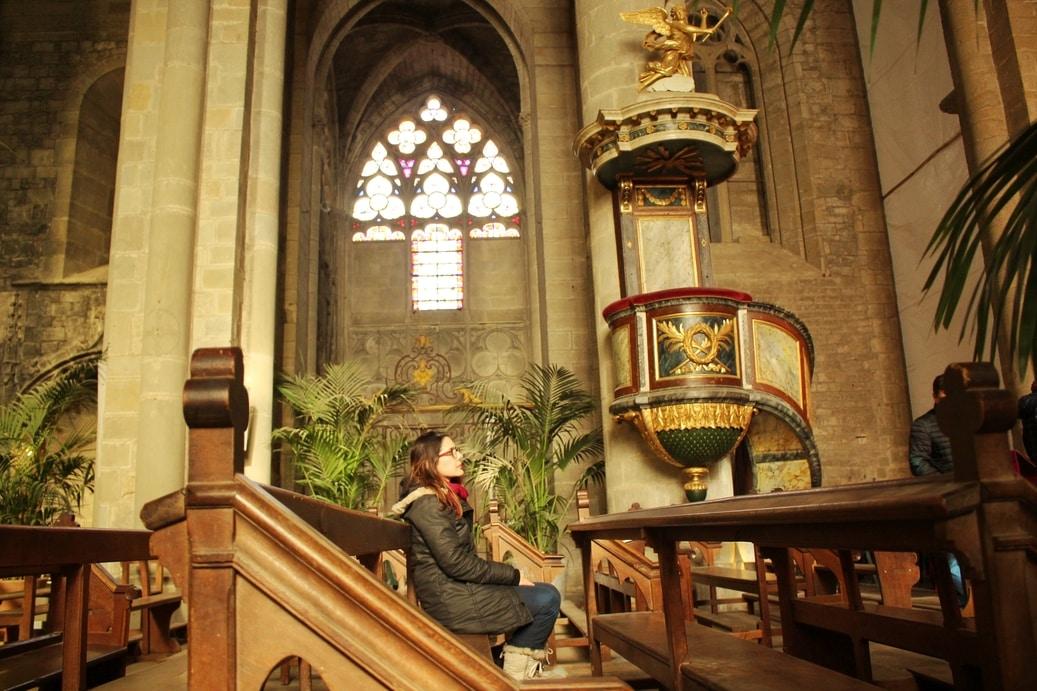 Interior da Basílica de Saint-Nazaré.
