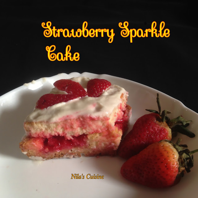 Strawberry Sparkle Cake / Strawberry Jelly Cake