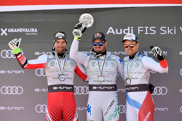 Dominik Paris Wins Super-G Race and Crystal Globe