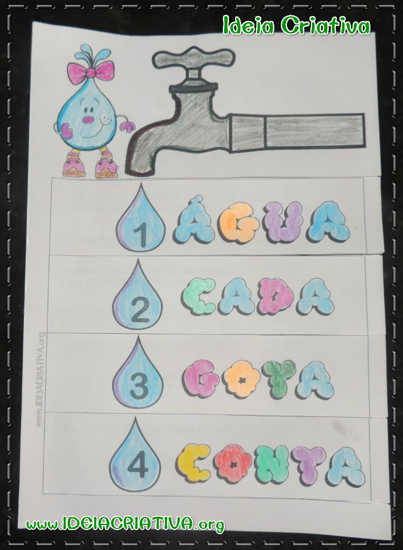 Atividade Dia da Água Livrinho Conta Gotas Dicas para Economizar com Turma da Mônica