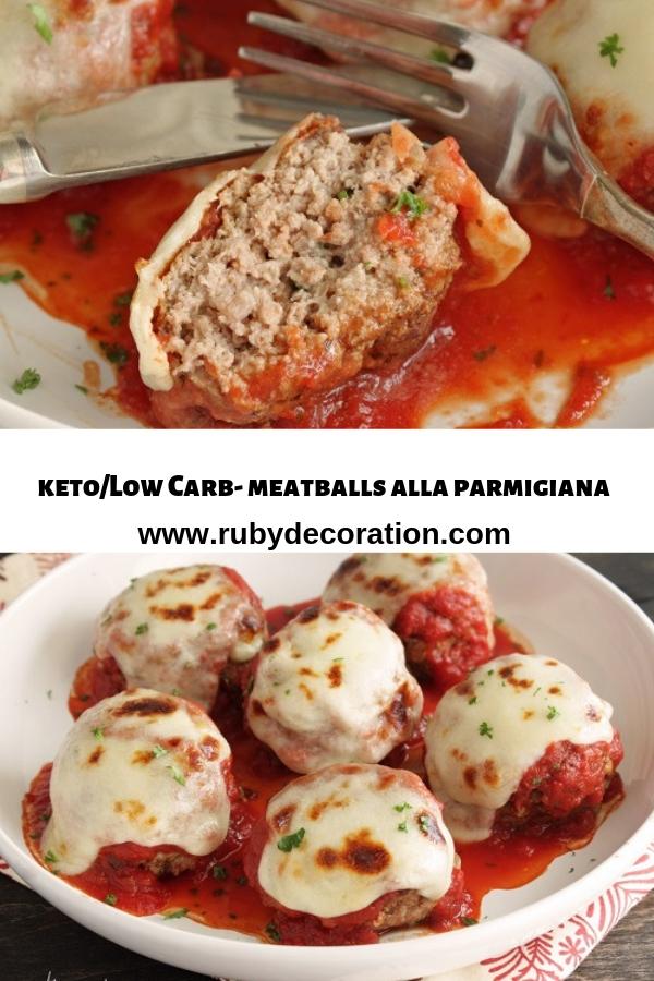 Keto/Low Carb-meatballs alla parmigiana