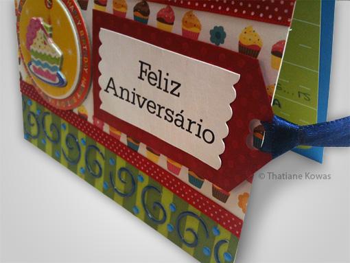 cartão aniversário scrapbook