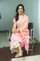 Actress Ritu Varma Pos in Beautiful Pink Anarkali Dress at at Keshava Movie Interview .COM 0226.JPG