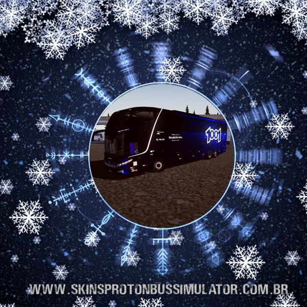Skin Proton Bus Simulator - G7 1600 LD Scania 6X2 K420 Auto Viação 1001