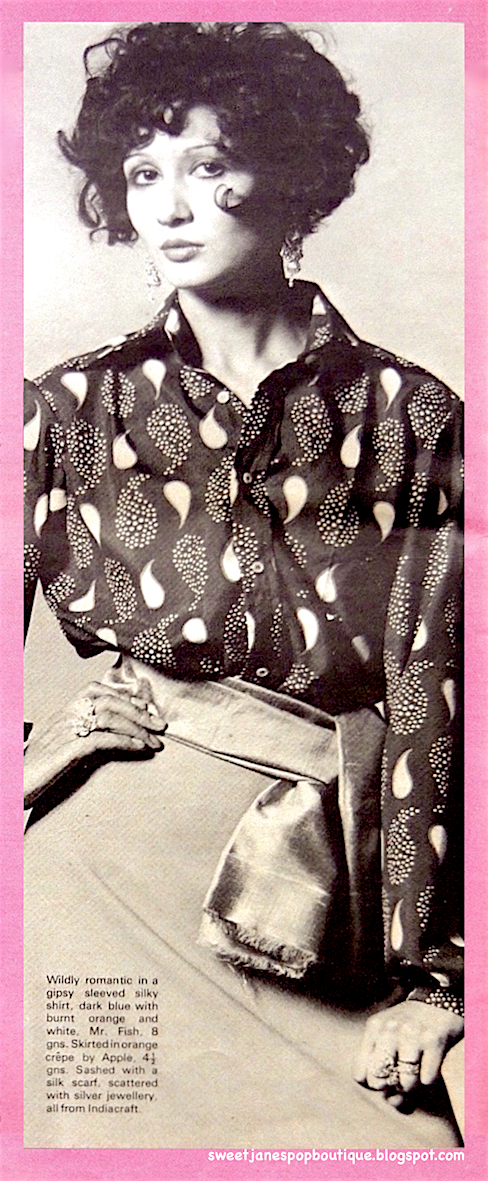 The Sweet Jane blog: Shirt  by Mr Fish of Clifford Street, London (1968)