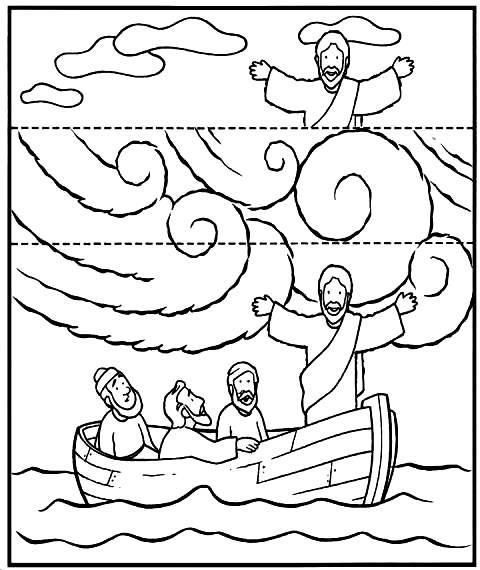 Material para o ministério infantil: Jesus acalma a