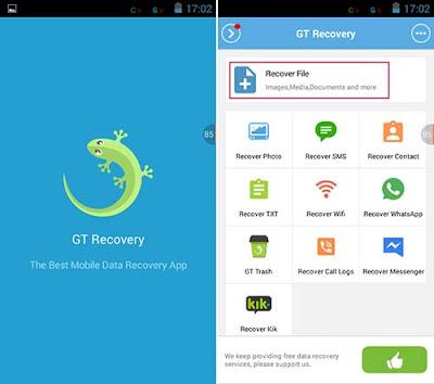 Cara Mengembalikan File / Foto / Data / Video Penting Terhapus dengan Aplikasi GT Recovery