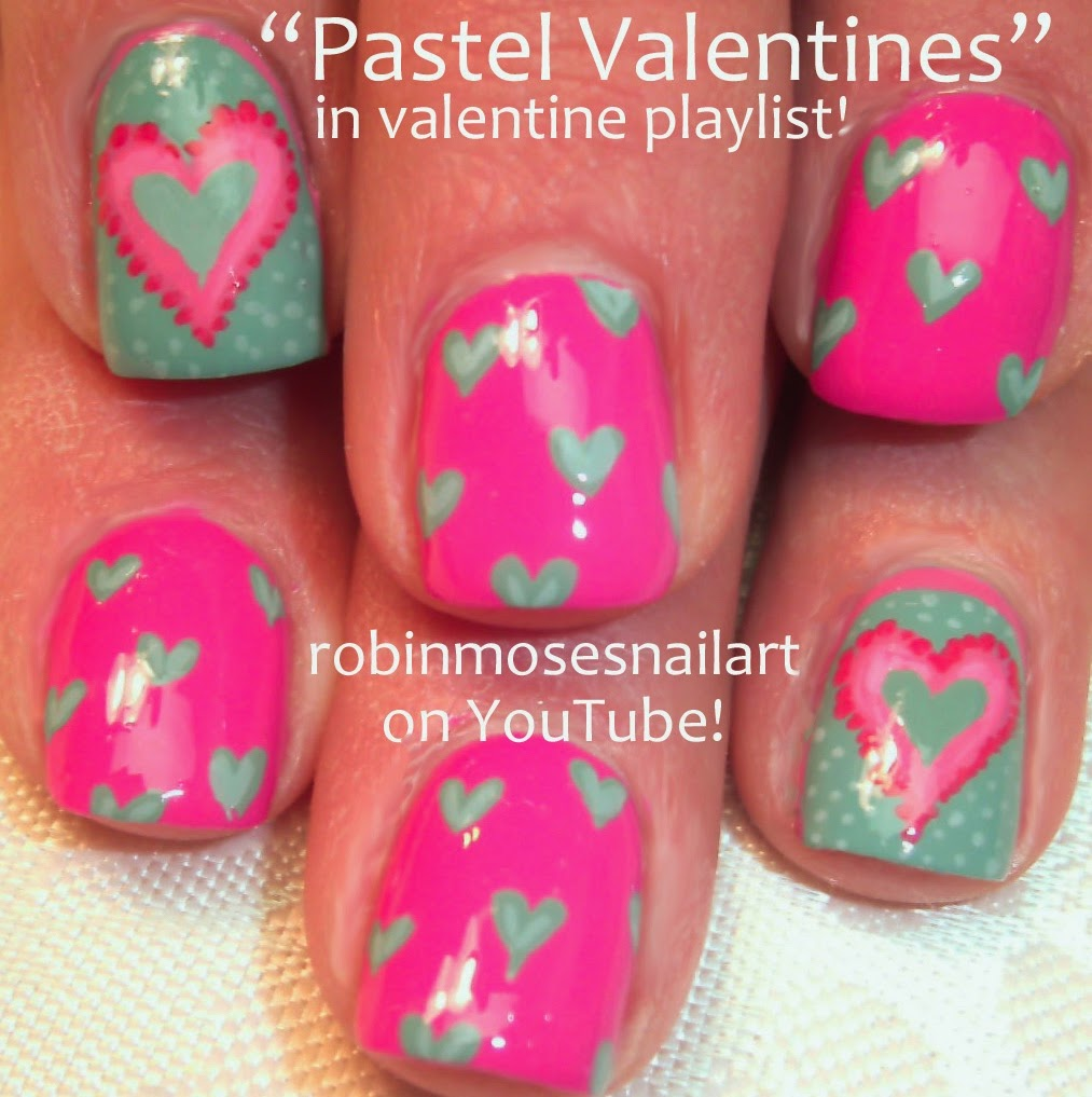 Nail Art By Robin Moses Valentine S Day Nail Art Red French