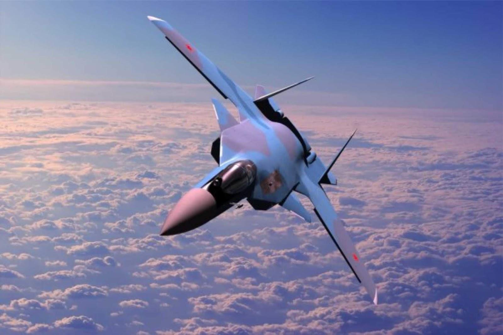 Penampakan model pesawat tempur generasi keenam Rusia secara tidak sengaja terlihat di publik