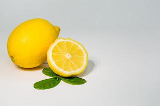 lemon on counter top cut open