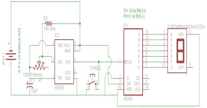 Sirkitelektronika: Rangkaian DISPLAY 7 SEGMEN + DADU