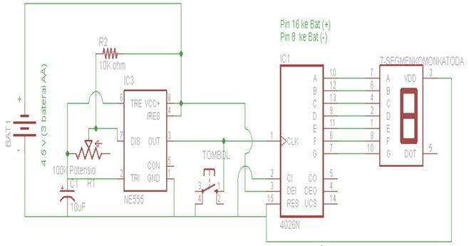 Komputer: DISPLAY 7 SEGMEN + DADU DIGITAL Dengan IC 4026