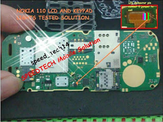 Nokia 110 display light ways jumper