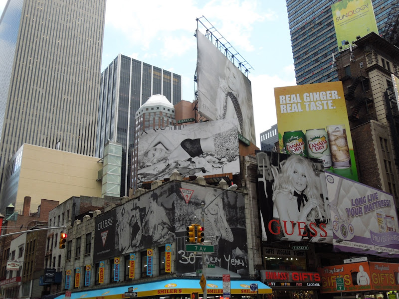 Guess 30 Sexy Years billboards Times Square