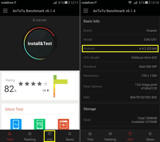 AnTuTu Benchmark applicazione Android architettura