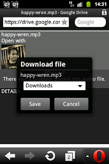 Cara download file di google drive dengan operamini Android