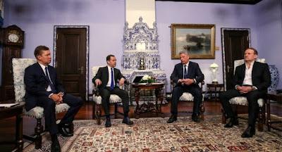 Бойко и Медведчук встретились в Москве с Медведевым и Миллером