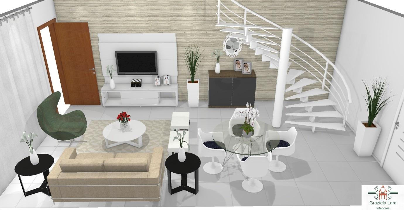 Construindo Minha Casa Clean Decora O De Salas Pequenas Integradas  -> Cozinha Integrada Com Sala De Jantar Pequena