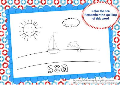 sea coloring page