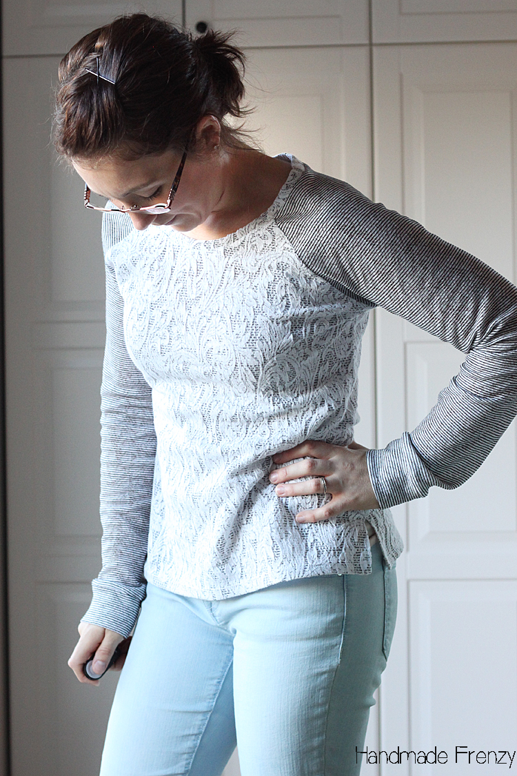 Lane Raglan Sewing Pattern // Lace & Stripes