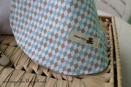 Conjunto de bebé - suporte de chupeta, babete, bolsa multiusos, sacos de alfazema