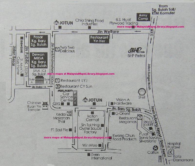 Malaysia Maps Library: Map of Pekan Sungai Buloh