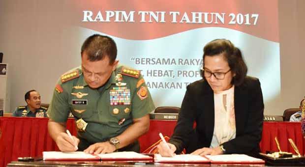 Nota Kesepahaman Kemenkeu RI dan TNI