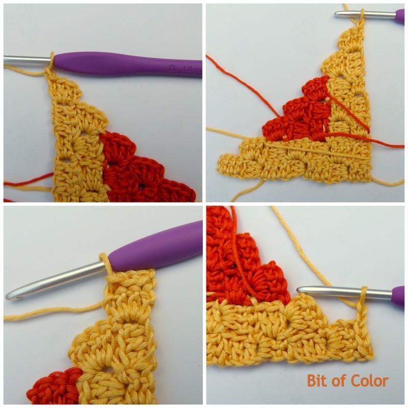 Bit Of Color Van Hoek Tot Hoek Haken Tutorial 2